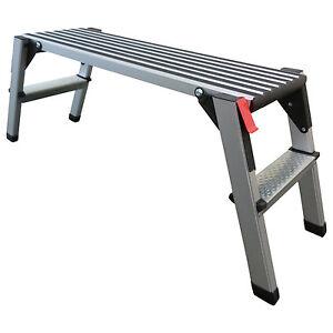 Arbeitsplattform-48cm-hoch-Arbeitsbuehne-Geruestleiter-Tritt-Stufentritt-Aluleiter