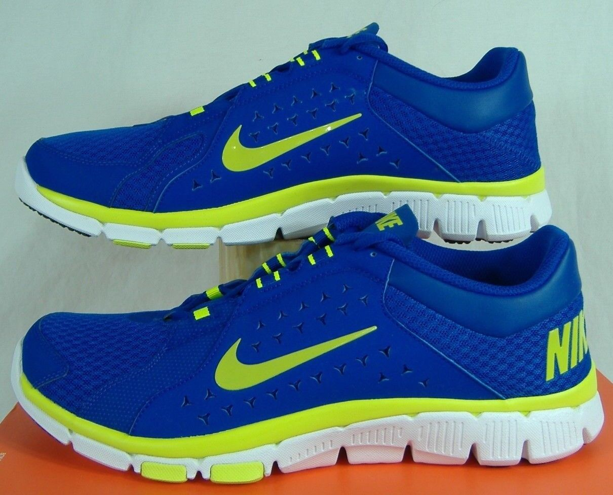 New Mens 13 NIKE Flex Supreme TR Hyper Blue Volt Green Shoes 80 525730-401