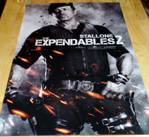 THE EXPENDABLES 2 STALLONE PROMO NEW PRINT POSTER 24 X 36 cubes