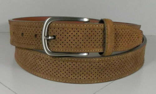 757614 ES20 Men/'s Belt Size 42 Light Brown Perfed Suede Johnston /& Murphy