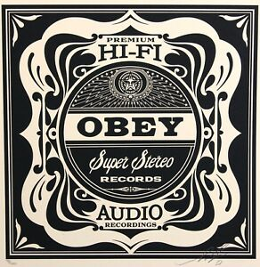 SHEPARD-FAIREY-hand-signed-RECORD-50-SHADES-OF-BLACK-ed-200-2013-obey-giant