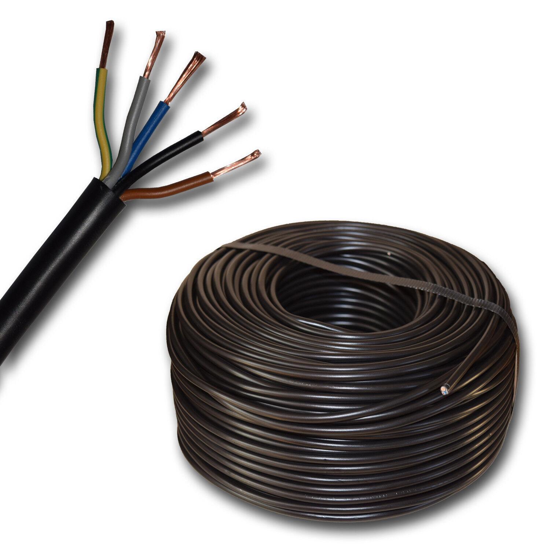 (  m) Herdanschlusskabel - Herdanschlussleitung H05VV-F 5x2,5 5G2,5 schwarz | Deutschland Store