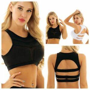 Women-039-s-High-Impact-Mesh-Wireless-Support-Yoga-Bras-Gym-Active-Sports-Bra-Tank