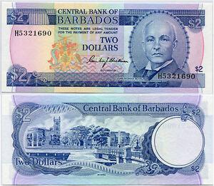 BARBADOS-2-DOLLARS-1980-P-30-UNC