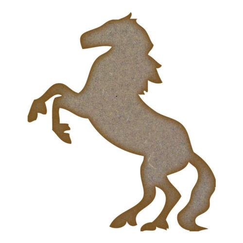 Rearing Horse MDF Laser Cut Craft Blanks in Various Sizes