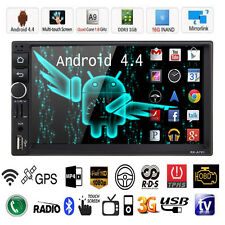 "7"" Android 4.4 Double 2Din HD Car Stereo GPS Navi MP5 MP3 Player Bluetooth Radio"
