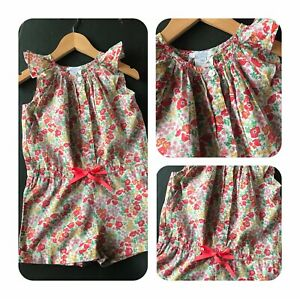 JACADI-4-ans-Combishort-fille-liberty-of-London-Tana-Lawn