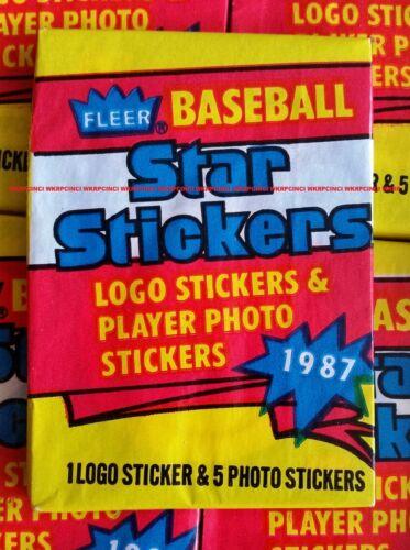 1987 Fleer Baseball STAR STICKERS Unopened Shrinkwrapped Wax Box Of 36 packs