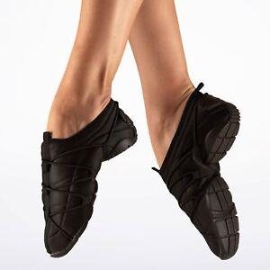 Black-capezio-freedom-split-sole-jazz-shoes-size-Small-UK-3-4