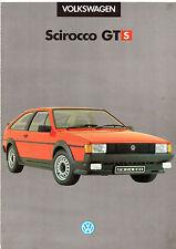 Volkswagen Scirocco GTS Limited Edition 1985 UK Market Sales Brochure