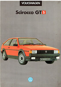 Details about Volkswagen Scirocco GTS Limited Edition 1985 UK Market Sales  Brochure