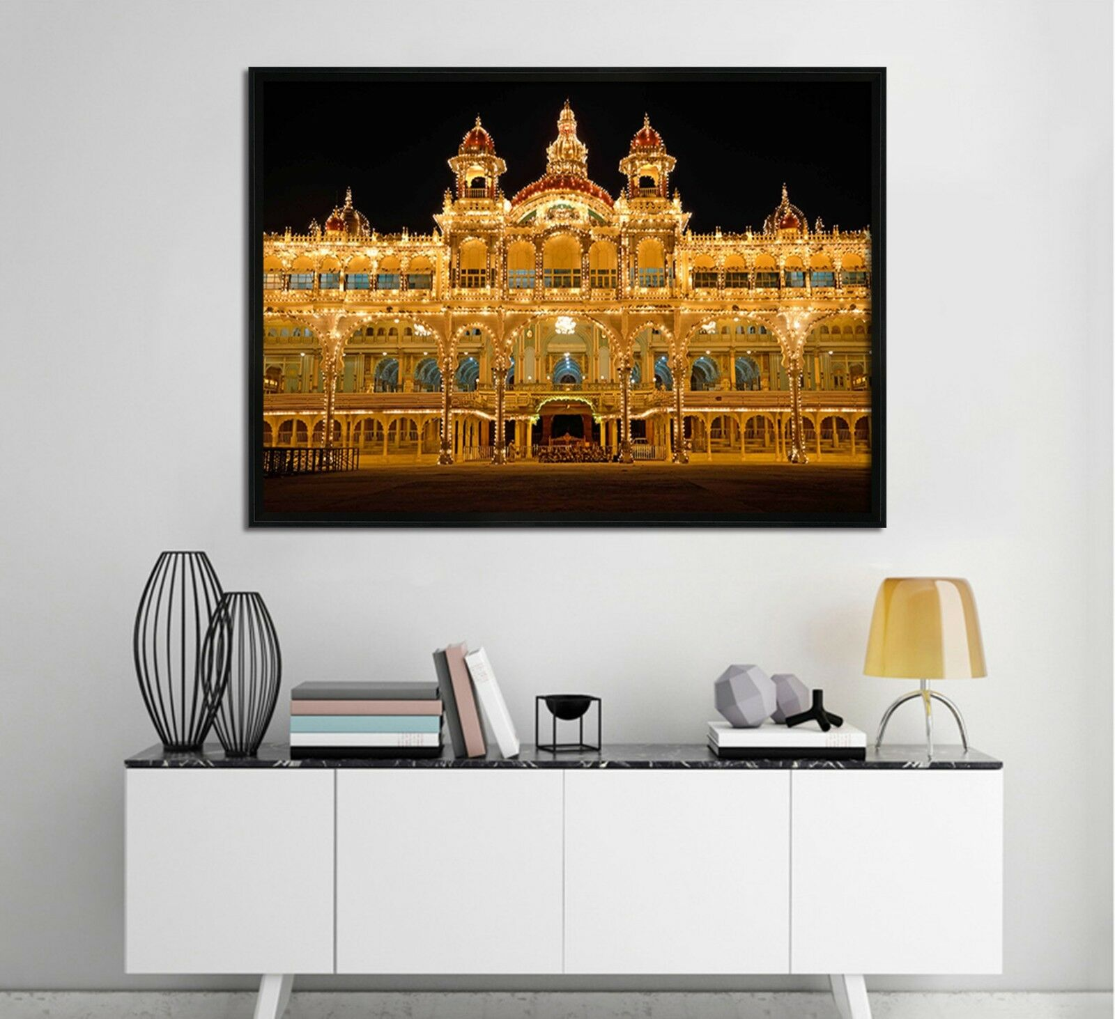 3D Palace 54 Fake Framed Poster Home Decor Print Painting Unique Art Summer
