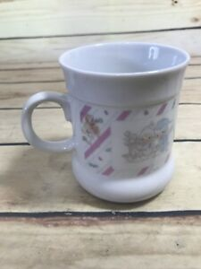 1989 Vtg Precious Moments Enesco Coffee Mug Cup Sharing Our Christmas Together