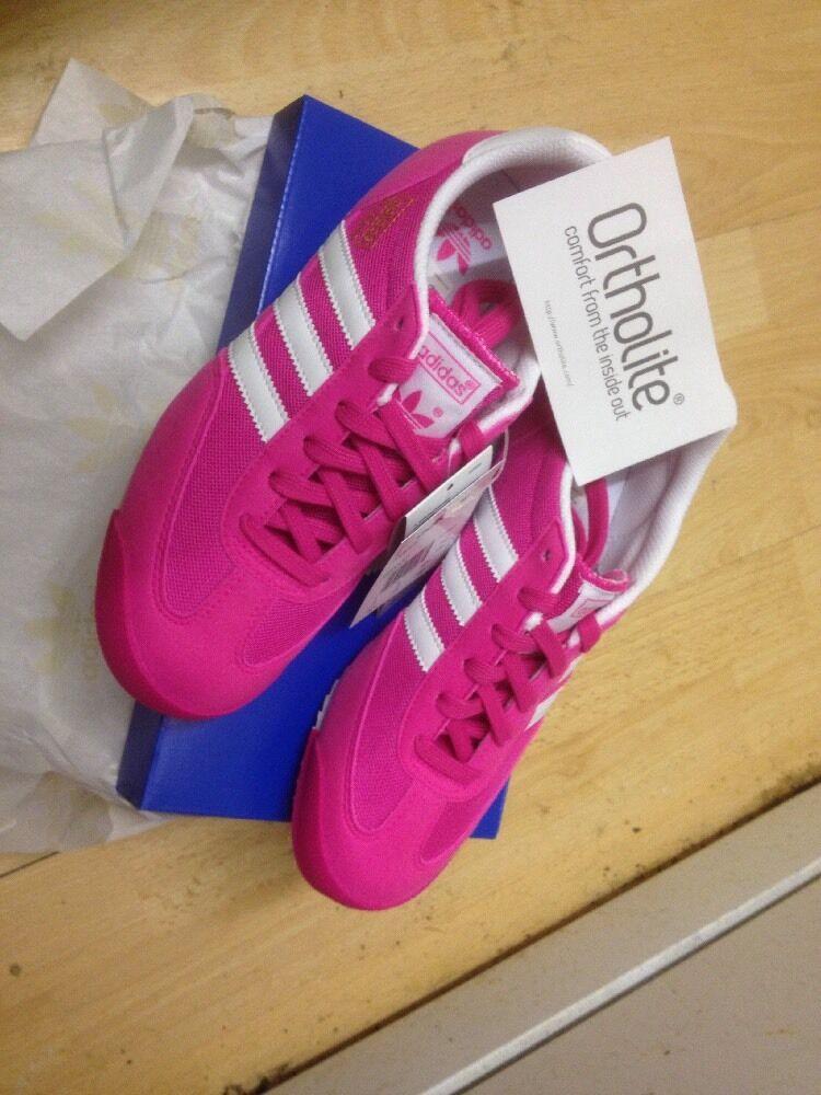 Adidas Dragones originales con en Rosa con originales Caja FREEPOST entrenadores de calidad 452964