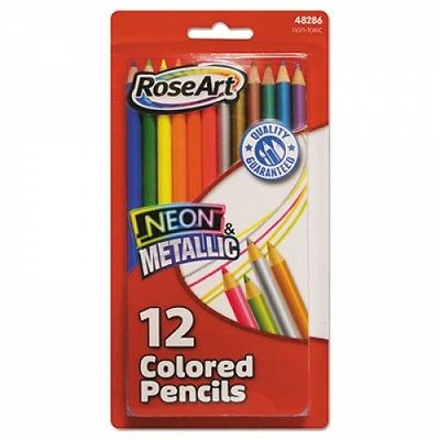 Rose Art Neon & Metallic Colored Pencils - 48286