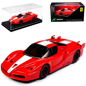 Ferrari-Enzo-Fxx-Coupe-Red-With-White-2005-2006-1-43-Kyosho-Model-Car-With-Or