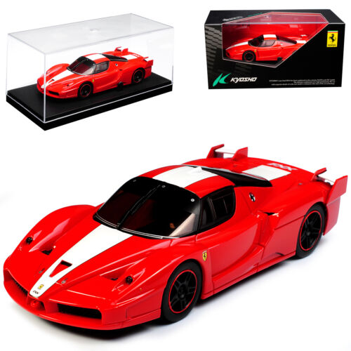 Ferrari Enzo FXX Coupe Rot mit Weiss 2005-2006 1//43 Kyosho Modell Auto mit oder