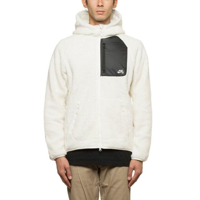 order online footwear on feet at Nike EVERETT FLEECE FULL ZIP Off White Sail Black Sweatshirt Jacket Men's  Hoodie