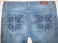 Yaso 11/12 31 Actual Sz 35 Tight X 30 3/4 Hand Dyed Look Designer Women's Jeans