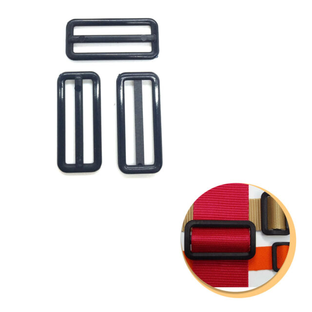 Hemline Strap Adjustable Buckle Black 25mm Replacement Adjuster for Bags Etc