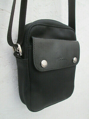 -AUTHENTIQUE petit sac bandoulière LONGCHAMP toile/cuir TBEG vintage bag |  eBay