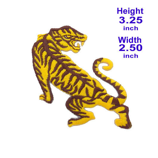 #2236IR Powerful Bengal Tiger Roar Animal Embroidered Sew Iron on Patch Badge