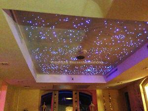 led sternenhimmel 200 lichtfaser sauna bad wellness schlafzimmer wohnzimmer auto ebay. Black Bedroom Furniture Sets. Home Design Ideas