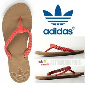 buy popular c0069 202a7 Image is loading ADIDAS-ORIGINALS-LEATHER-SANDALS-Flip-Flops-Slides-ADISUN-