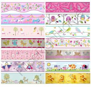 Girls Bedroom Wallpaper Borders Butterfly Fairies Pink Ebay