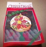 Design Works Poinsettia Jeweled Satin Ball Ornament Kit