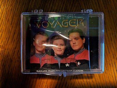 STAR TREK Voyager Series 2 Complete Base SET 90 CARDS /& Wrapper in Case