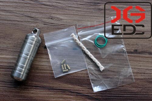 Mini EDC Tool Titanium TC4 Outdoor lighter Home Waterproof Pill Box Best XG72