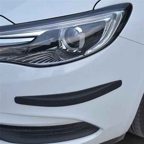 1pair Car Bumper Carbon Fibre Protector Corner Guard Rubber Sticker Hs