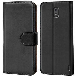 Book-Case-fuer-Nokia-2-Huelle-Tasche-Flip-Cover-Handy-Schutz-Huelle-Handyhuelle