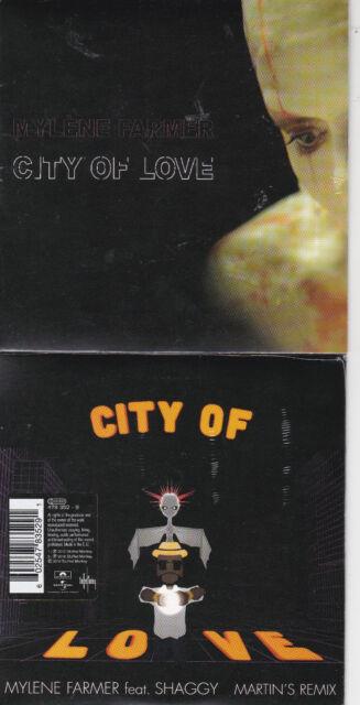 CD CARTONNE CARDSLEEVE 2T MYLÈNE FARMER feat SHAGGY CITY OF LOVE NEUF SCELLE