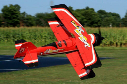 Dynam RC Airplane Aerobatics Pitts Model 12 Red 1070mm Wingspan PNP