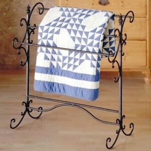 Details about Iron Quilt Rack Tuscan Style Blanket Towel Holder Rustic  Vintage Bedroom Decor
