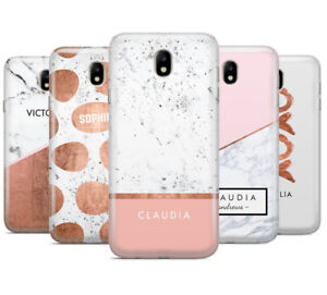 designer fashion 137fd 50243 Details about PERSONALISED MARBLE NAME/INITIALS/LETTER MOBILE PHONE CASE  FOR SAMSUNG J3 2017