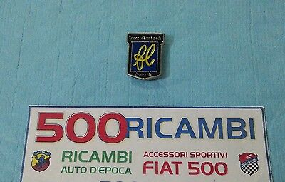 FIAT 500 F//L//R LOGO FRANCIS LOMBARDI STEMMA CROMATO MUSO ANTERIORE O CRUSCOTTO