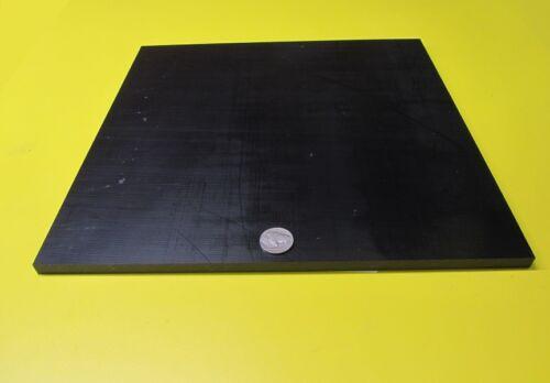 "Tivar UHMW PE Black Sheet .375/"" 3//8/"" 2 Units Thick x 12/"" Wide x 12/"" Length"