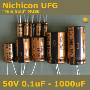 Nichicon-UFG-FG-034-Fine-Gold-034-MUSE-High-Grade-for-Audio-50V-Capacitors