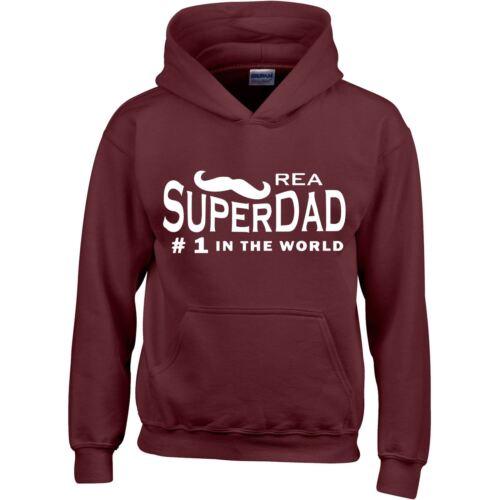 SUPER Dad Mens Hoodie Sweatshirt Inspired Top Presents Casual Unisex Jumper