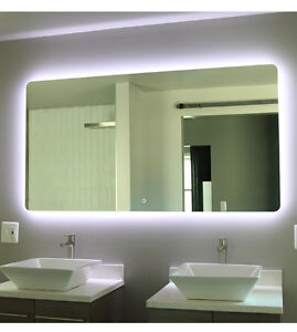 034 backlit led light bathroom vanity sink mirror illuminated mirror