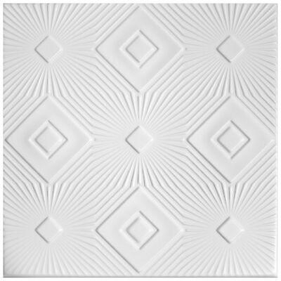 10 qm Deckenplatten Styroporplatten Stuck Decke Dekor Platten 50x50cm Nr.10