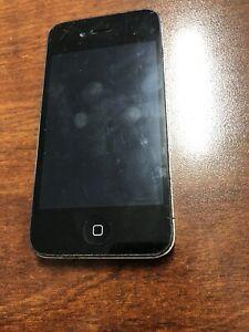 IPHONE-4s-16GB-Noir-Alimentation-Bouton-Ne-Pas-Work-Debloque-pour-Tout-Reseaux