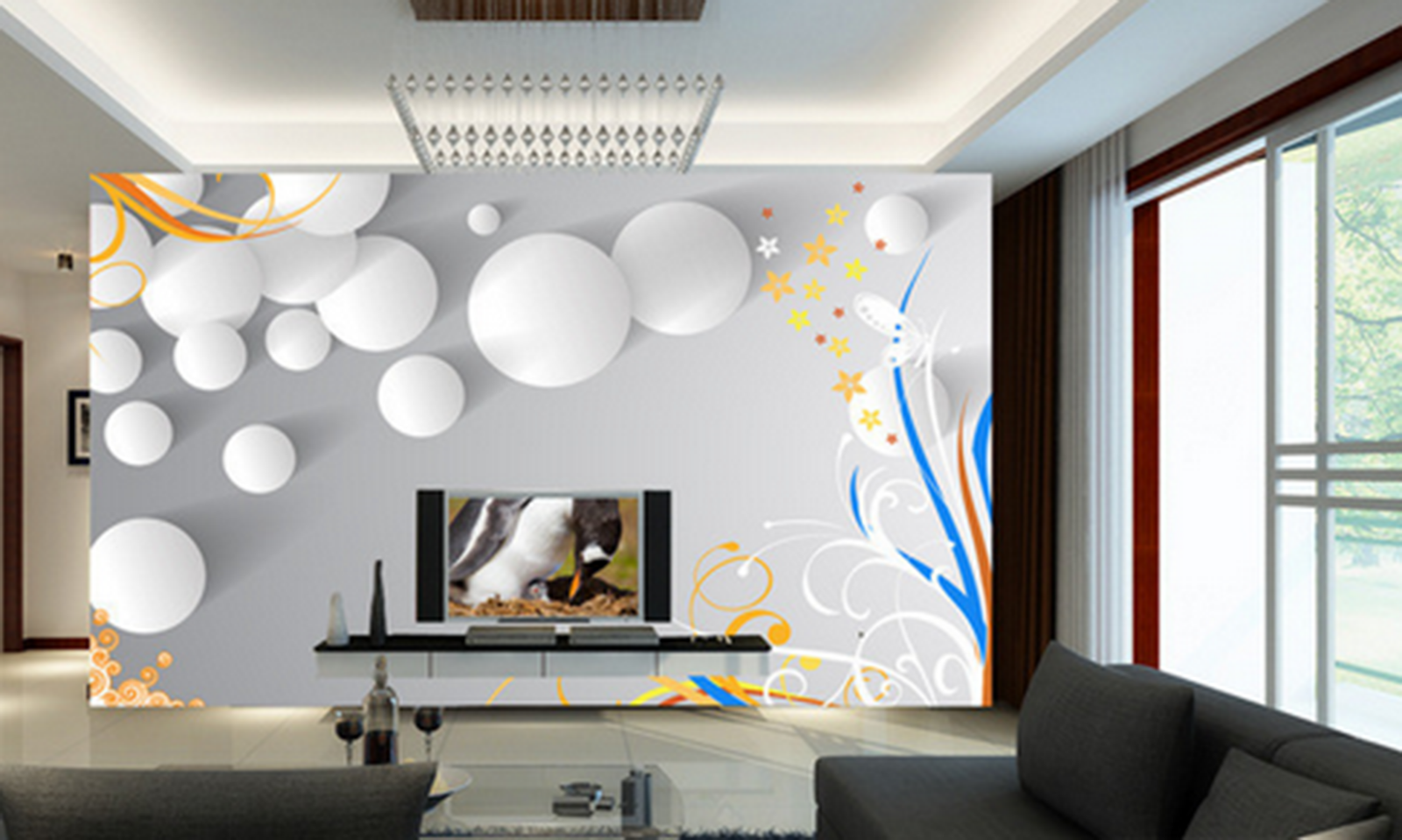 3D Weiß Ball Decoration Paper Wall Print Wall Decal Wall Deco Indoor Murals