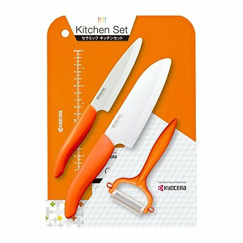 New Kyocera Kitchen 4-piece set Ceramic Orange GP-402OR-C F S from JAPAN