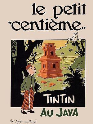 Le Secret de La Licorne-Poster Herge-Les Aventures de Tintin