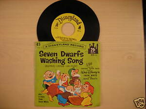 Disneyland-Records-SEVEN-DWARFS-WASHING-SONG-45rpm-1962