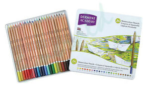 Derwent-Academy-WATERCOLOUR-Assorted-Pencils-Tin-of-24-Same-Day-Dispatch